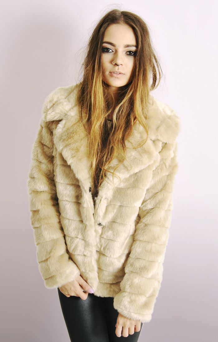 Faux shearling jacket women